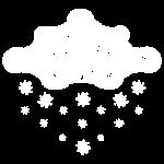 nuage blanc et flocons vacances d'hiver