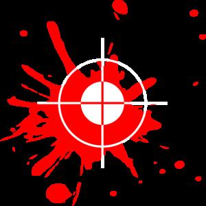 Bood Blut Sniper Gaming shooter Geschenk idee rot