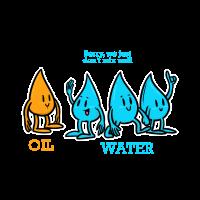 Wissenschaft - Naturschutz - Öl - Wasser - Witz