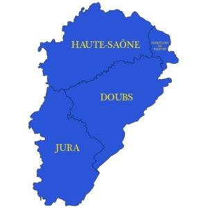 Franche-Comté + départements