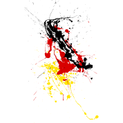 Germany fan Shirt - splashes of color