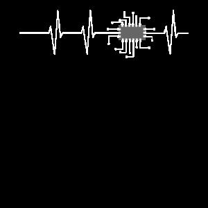 CPU Chip Herzschlag Heart Beat / Geschenk Idee