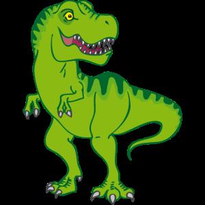 T-Rex / grüner Comic Dinosaurier