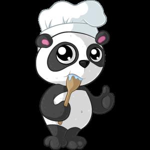 Kochender Comic Panda