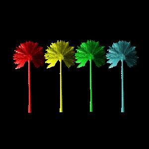 Palmen Vier farbig Shirt Men / Women / Kids