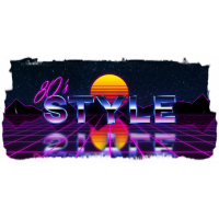 80's style grid