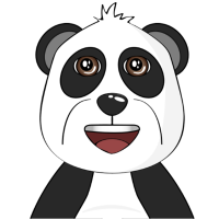 Lächelnder Panda