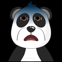 Überraschender Panda