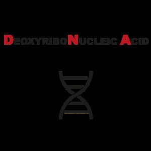 DNA Helix schwarz