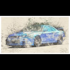 GTR R34 watercolors
