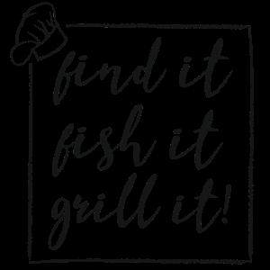Fisch grillen Fischer fischen Geschenk