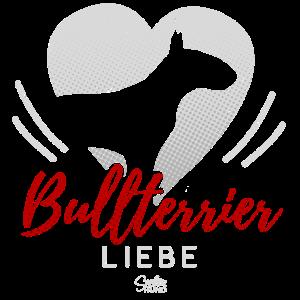 Bullterrier Liebe mit Herz