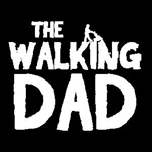 Walking Dad T-Shirt mit Papa und Kinderwagen