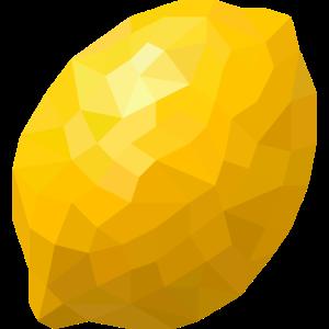 Zitrone kubistisch