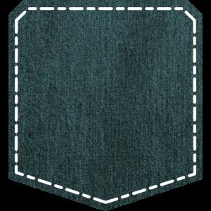 Brusttasche - Denim/Jeans Brusttaschendesign