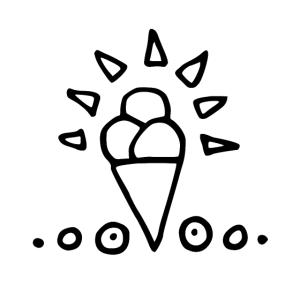 Eis handgezeichnet
