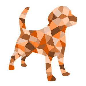 Hund kubistisch