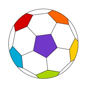 bunter Fussball, Poster fürs Kinderzimmer