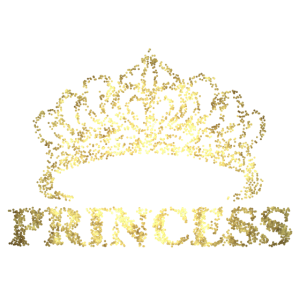 Princess mit Krone Gold