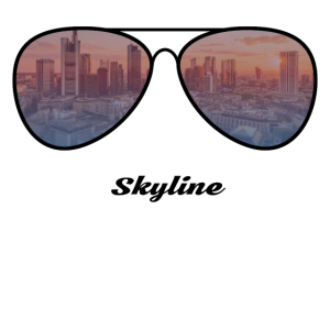 Frankfurt City Skyline Sonnenbrille