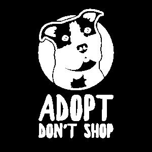 Animal Rescue Adopt Don't Shop Dog Pitbull Vintage