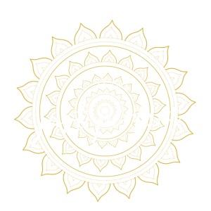 I am just perfect white gold mandala