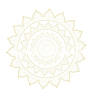 I am infinite abundance white gold mandala