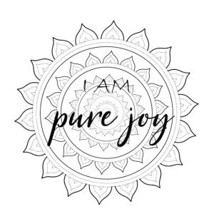 I am pure joy black mandala