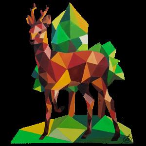 Origami Rehbock