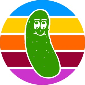 Vintage Colored Pickle #1