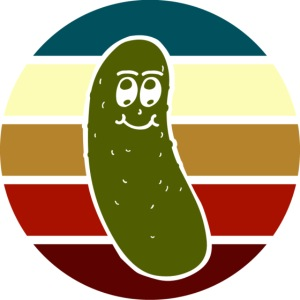 Vintage Colored Pickle #2