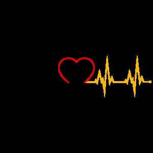 Herzschlag Heartbeat Deutschland schwarz rot gold