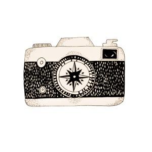 Kompass Kamera Fotografie Geschenk