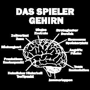 Das Spieler Gehirn Geschenk Gamer Geek