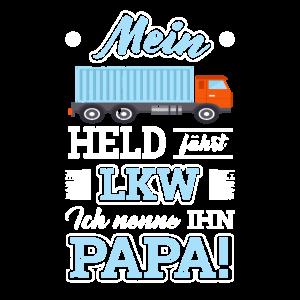 Held Papa Vater LKW Geschenk t-shirt lustig cool