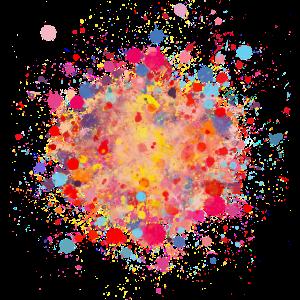 Farbspritzer Frühling bunt, Flecken und Tupfen