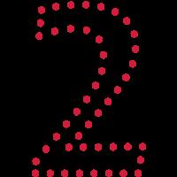 Pünktchen Zahl 2 / dotty number 2 (1c)