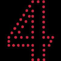 Pünktchen Zahl 4 / dotty number 4 (1c)