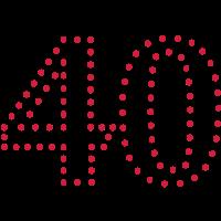 Pünktchen Zahl 40 / dotty number 40 (1c)