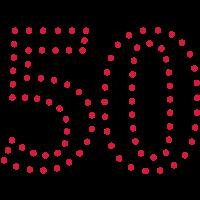Pünktchen Zahl 50 / dotty number 50 (1c)