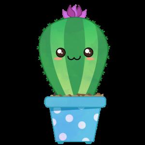 Glücklicher Kawaii Kaktus