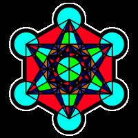 Metatron Cube - Heilige Geometrie - Goa - Geschenk