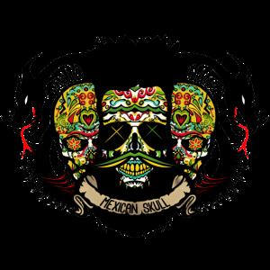 Kopf des mexikanischen Drachen Stammes- Schädels des Todes mexikanischer