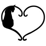 Chat coeur noir