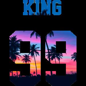 KING 99 PALMTREE SUNSET