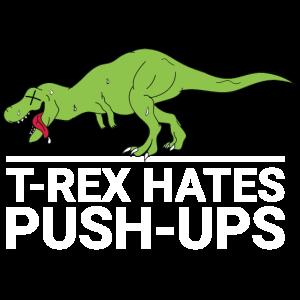 T-Rex hasst Liegestützen - Dino - Fitness - Sport