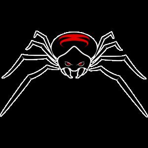 Spinne mit rote Augen Geschenk für Insekten-Lieber