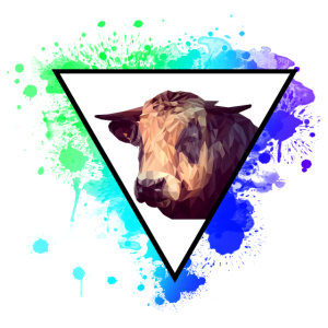 Kuh Rind Gnuh Wiederkäuer Tier Animal Farben