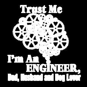Ingenieur-Vati-Ehemann und Hundeliebhaber