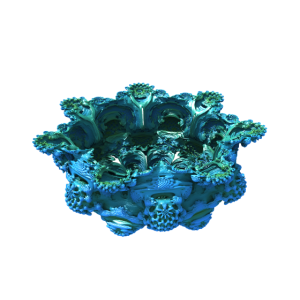 mandelbulb blue green